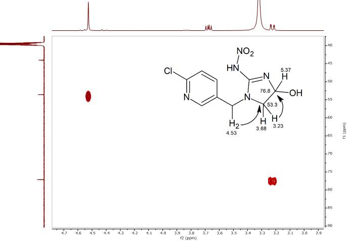 HMBC-spectrum-of-4-hydroxyimidacloprid