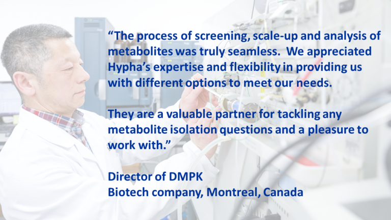 Client metabolite project testimonial
